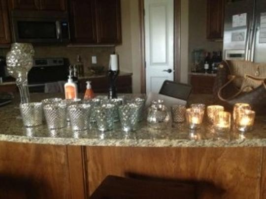 Mercury Glass **reserved For Britta** Votive/Candle