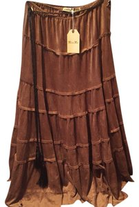 Miss Me Maxi Skirt Brown