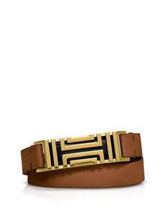 Tory Burch TORY BURCH FOR FITBIT FRET DOUBLE-WRAP BRACELET bark / aged gold