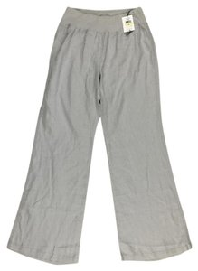 Calvin Klein 100% Linen Wide Leg Casual Wide Leg Pants Gray
