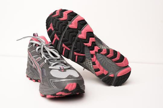 Asics Grey/Pink Athletic