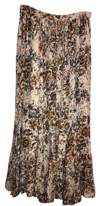 Free People Maxi Skirt Ivory Floral
