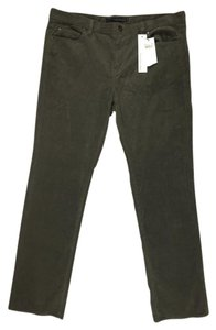 Calvin Klein Stretchy Straight Leg Straight Pants Dark Olive Green