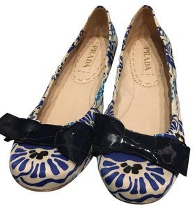 Prada Blue and white. Flats