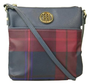 Tommy Hilfiger Helen Nylon Navy/ Plaid Cross Body Bag