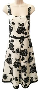 Ann Taylor Silk Bow Floral Print Midi Dress