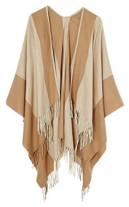 ASOS ASOS Women's Natural Camel Stripe Cape With Tassels