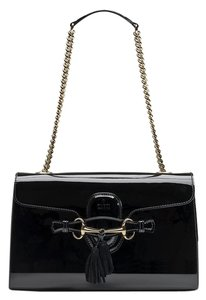 Gucci Emily Patent Shoulder Bag