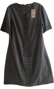 Reiss Beaded Studded Silk Dress