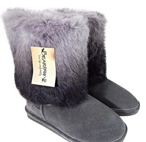 Bearpaw Short Boot Suede Rabbit Fur charcoal Boots