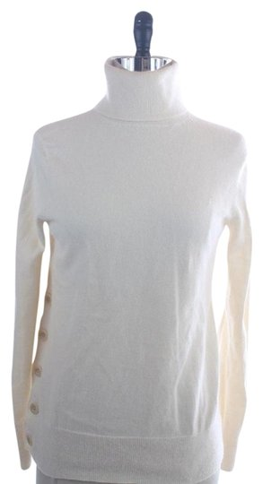 Lilly Pulitzer Off White Angora Turtleneck Side Button Sweater durable service
