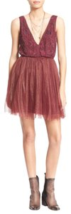 Free People Boho Boho Glam Party Beaded Tulle Dress