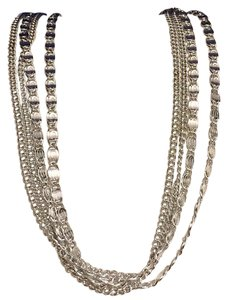 Sarah Coventry Multi Strand Different Chain Link Sarah Coventry Necklace