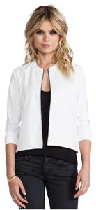 bobi White Leather Jacket