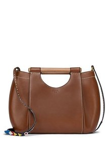 Tory Burch Leather Crossbody Tote in Tan