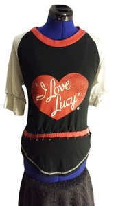 I Love Lucy Halfsleeve Small Sale 15off T Shirt Black/Red