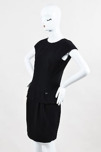 Chanel Textured Sleeveless Peplum Dress