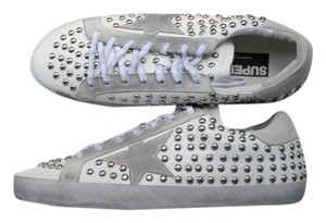 Golden Goose Deluxe Brand Sneakers White with silver studs Athletic
