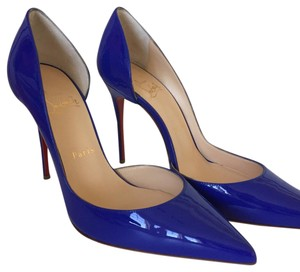 Christian Louboutin Patent New Blue Pumps