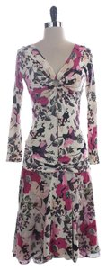 Atos Lombardini Floral Silk Dress