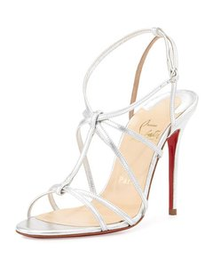 Christian Louboutin Redbottoms Youpiyou Silver Sandals