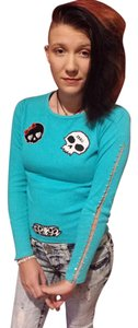 Arizona Skulls Longsleeve Small T Shirt Blue