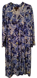 Dana Buchman short dress Multi-Floral Blue Faux Wrap Mock Wrap on Tradesy