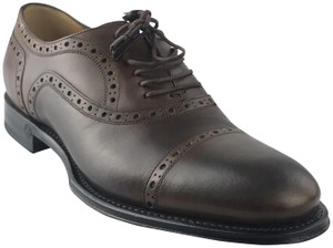 Gucci Brown Men's Cambridge Brogue Tassel Lace Oxfords Shoes
