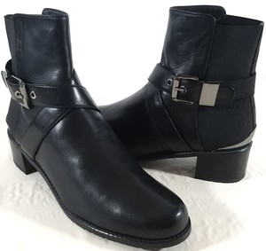 Stuart Weitzman Stretch Back Ankle Black Boots