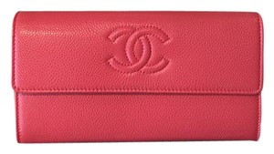Chanel Soft Caviar Long Leather Wallet