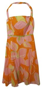 Maggy London short dress Orange, Pink, Green, White, Yellow on Tradesy