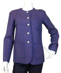 Chanel Tweed Blue Jacket