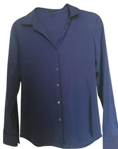 Theory Night Out Date Night Silk Button Down Shirt