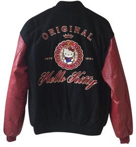 Hello Kitty Red and Black Leather Jacket