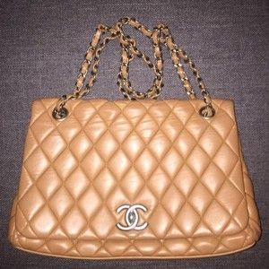 Chanel Camel Flap Cross Body Bag
