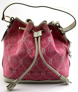 Dooney & Bourke Canvas Leather Signature Tote in Pink