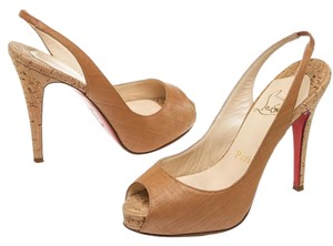 Christian Louboutin Tan Pumps