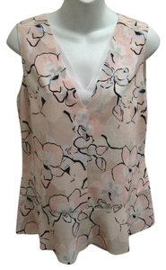 Brooks Brothers Peplum Sleeveless Floral Top Multi-Color