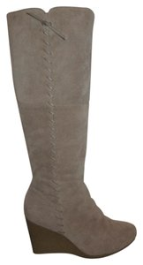 Kenneth Cole Reaction Leather Suede Tall taupe Boots