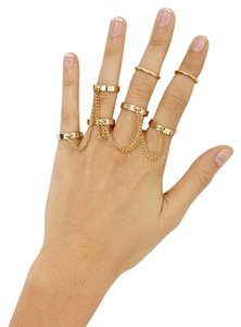 Nasty Gal Nasty Gal Gold Chain Rings