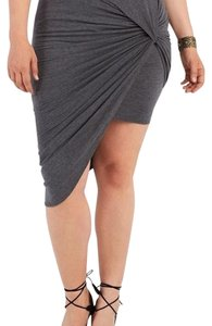 Charlotte Russe Comfortable Cape Stretchy Breathable Fun Mini Skirt Gray
