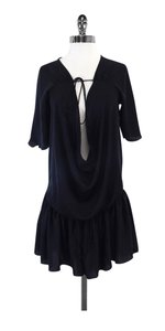 Jill Stuart short dress Black Deep Cowl Neck on Tradesy