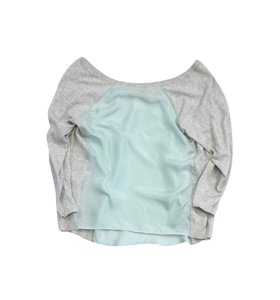 Ted Baker Light Blue Grey Silk Top