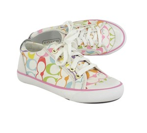 Coach Colorful Monogram Sneakers Flats