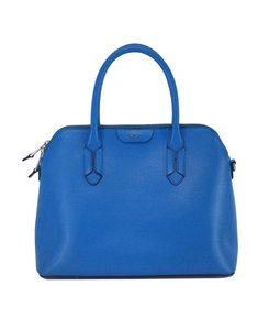 Ralph Lauren Blue Structured Leather Hobo Bag