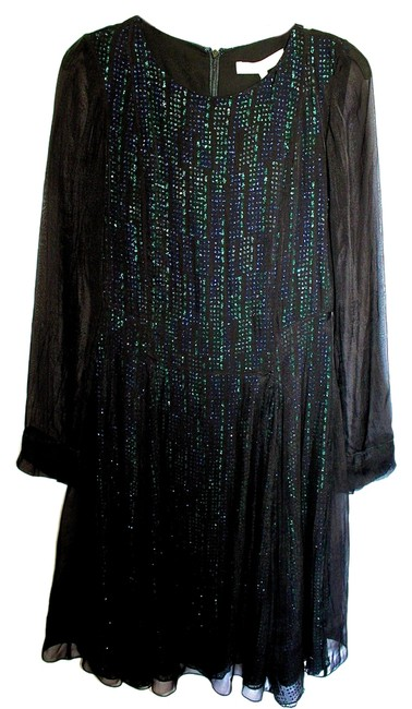 Vanessa Bruno Designer Edgy Sequin Party Party Contemporary Vince Kate Spade Tory Burch Halo Ramy Brook Dress