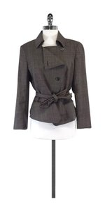 Max Mara Brown Wool Asymmetric Jacket