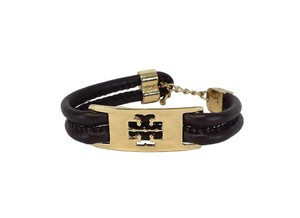 Tory Burch Brown & Gold Leather Bracelet