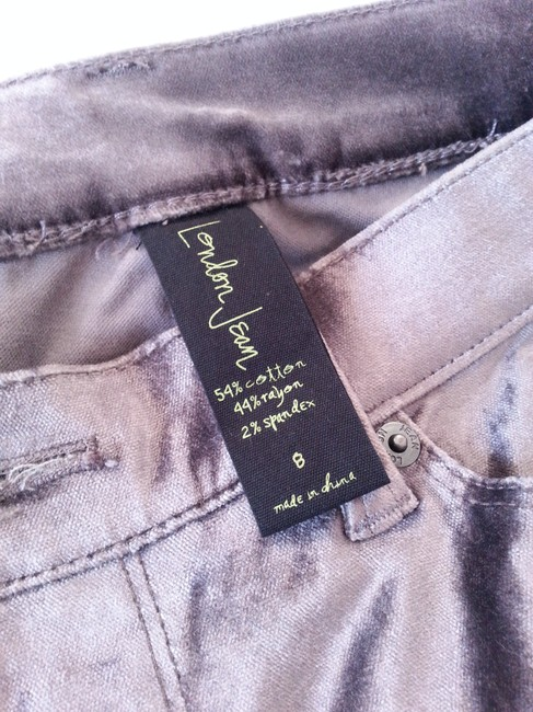 Victoria's Secret Velvet Shimmer Dressy Office Neutral Classis Straight Pants Grey