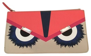Fendi Wristlet in Pink and taupe